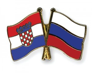 Freundschaftspins-Kroatien-Russland